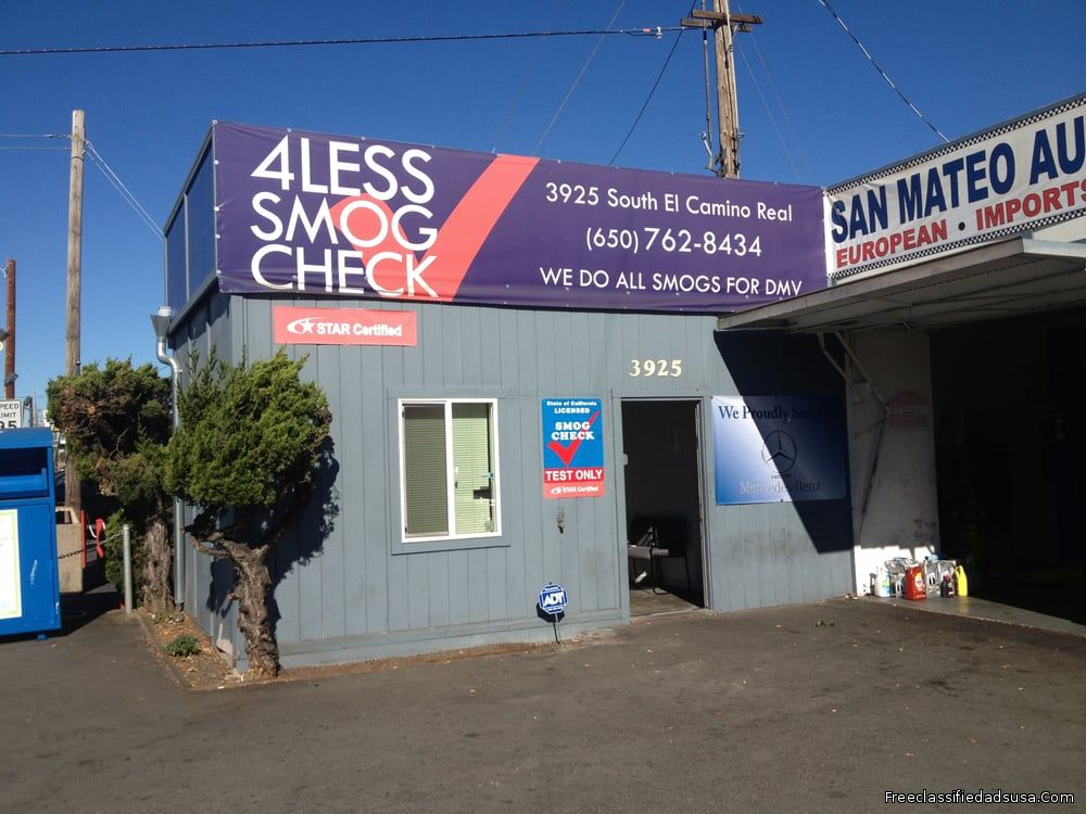 4Less Smog Check San Mateo CA