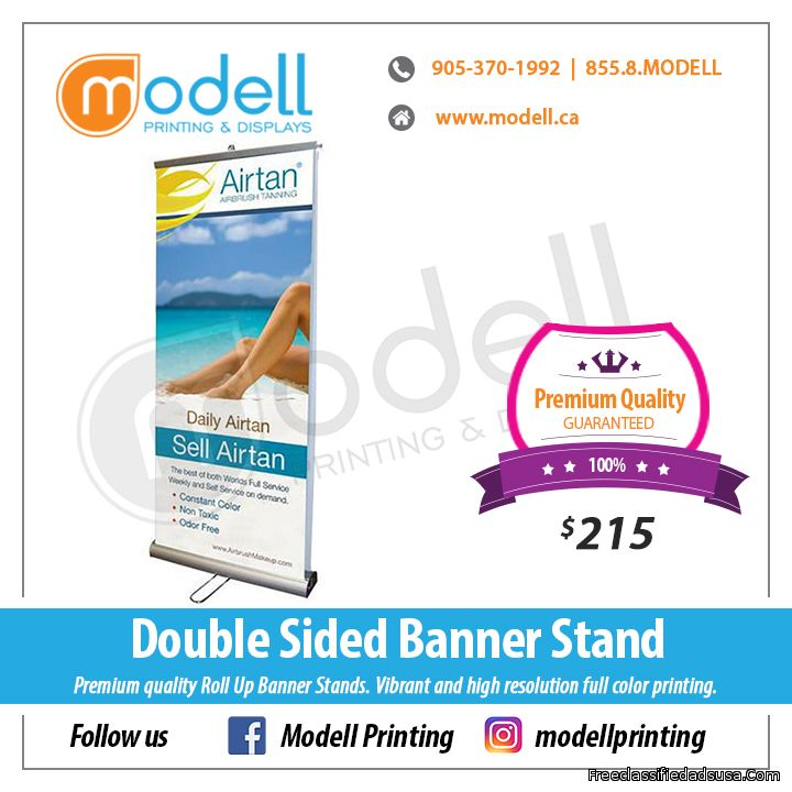 Double Sided Roll Up Banner Stand | Modell Printing and Displays