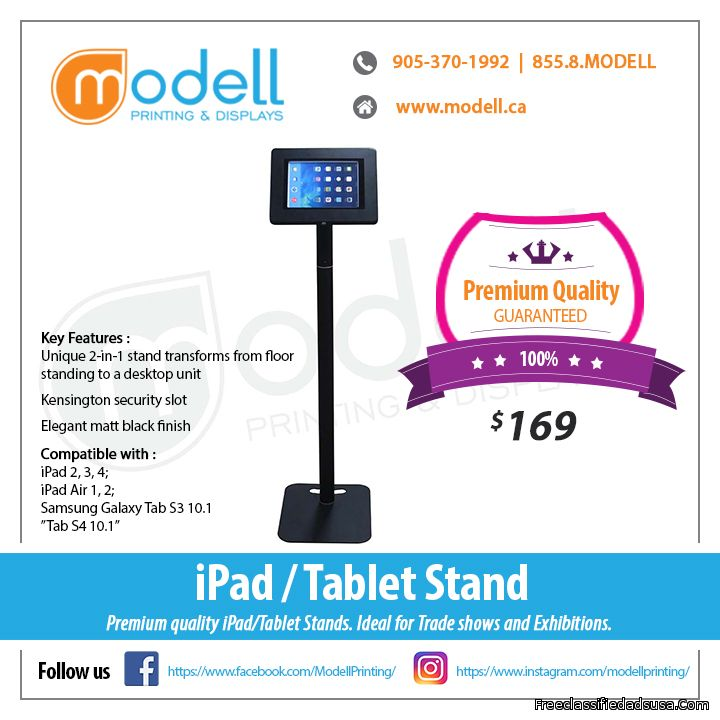 iPad Stand for Trade Shows | Modell Printing and Displays