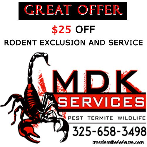 $25 off Rodent Exclusion and Service