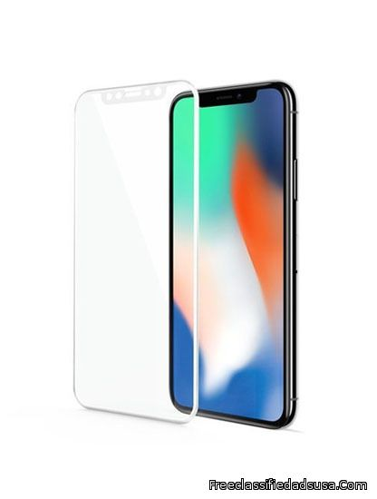 iPhone X 3D Curved Edge Tempered Glass (White)