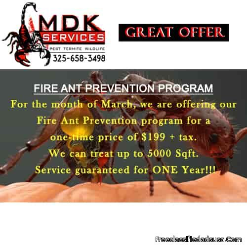 Fire Ant Prevention Program