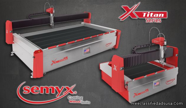 Titan® Series Waterjet Cutting Systems from Semyx, LLC