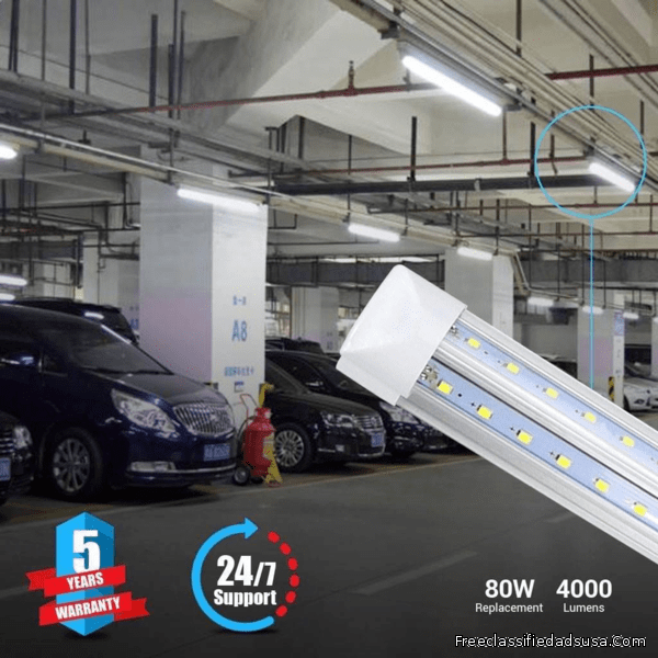 Install T8 4ft Integrated LED Tubes for Enhanced Visibility in the Parking lots